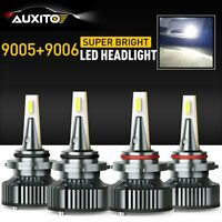 4X 9005 + 9006 Combo LED Headlight Kit  32000LM High Low Beam Bulbs 6500K AUXITO