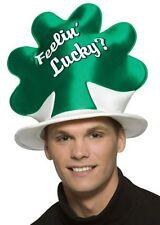New Halloween Rasta Imposta Green Feeling Lucky Shamrock Hat, 4 Leaf Clover