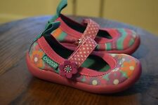 Chooze Pink Floral / Stripe Mary Jane Shoes Toddler Girl's Size 5