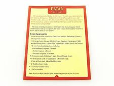 Settlers of Catan 5e Replacement 5 - 6 player Extension Game Rules Booklet