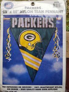 "Green Bay Packers-Appliquéd Nylon Flag/Pennant-28""x40""-NFL"