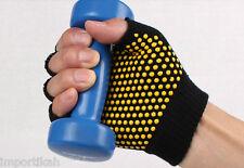 Anti slip skid Fingerless Gym Gloves for Yoga pilates Pull-ups Weightlifting