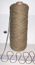 450g cone Coffee Brown 100% Pure Wool British Breed knitting thick aran BBW 326