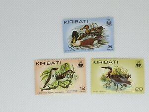 Kiribati definitive issue specimen overprint  3 stamp set MNH