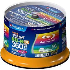 50 Verbatim Blank Blu-ray Discs 50GB BD-R DL 6x 4x bluray Japan