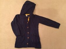 BNIP Mini Boden Girls Navy Blue Long Cable Knitted Cardigan - Age 5-6 Years