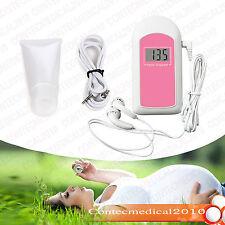 CONTEC Doppler fetal FHR embarazo La frecuencia cardiaca del bebé 1 GEL LCD PINK
