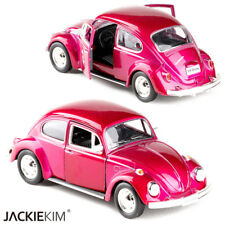 """Classic VW Beetle 1967 Open two doors Toys 5"""" Alloy Diecast Model Cars Rose Red"""