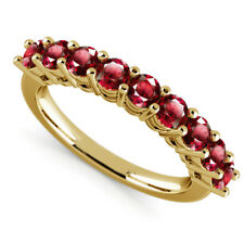 0.98 Carat Natural Ruby Engagement Ring 14K Solid Yellow Gold Band Size 4 5 6 7