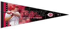 JAY BRUCE Cincinnati Reds Signature Series Premium Felt Collectors PENNANT