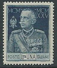1925-26 REGNO GIUBILEO 1 LIRA D. 13 1/2 LUSSO MNH **  - M2-6