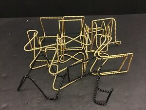 Lot 15 Gold Tone Twisted Braided Metal Wire Plate Holder Art Display Easels
