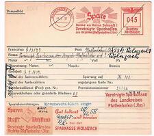 Pfaffenhofen Ilm 1937 Vereinigte Sparkassen Wolnzach Archivkarte Unikat