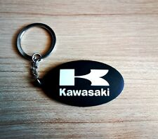 Kawasaki Keychain Rubber Keyring Black Motorcycle Bigbike Collectible Gift New