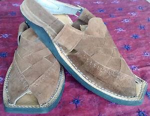 Kohati Handmade PAK Suede Balochi Chappal Brown Sandal Size 8.5, 9, 9.5 & 10