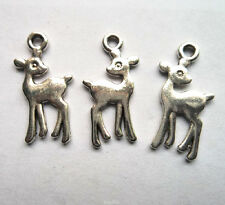 30pcs Tibetan silver deer charms pendant 21x11 mm