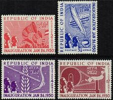 India 1950 Stamps Inauguration of Republic MNH
