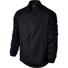 e868b539ba557a 882893-010 With Tag Nike Men s Jordan Winged Coaches Button up Jacket Black  Regular L