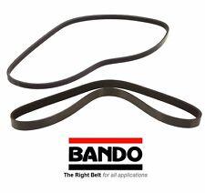 Fits 01-05 Honda Civic 2 Bando OEM Drive Belt Set -Alt-AC-Pwr 4PK1010 6PK990