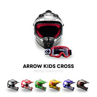 ⛑ ARMOR AKC-49 KIDS-CROSS HELMET ⸺ CHILDREN OFF-ROAD ENDURO MX BMX QUAD ⸺ XS–XL