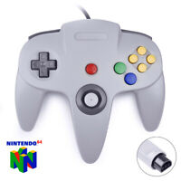 N64 Controller Game Joystick Gamepad Game System Grey Long Handle For Nintendo