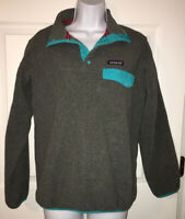 PATAGONIA Women's Lightweight Synchilla® Gray Snap-T® Fleece Pullover XS EUC