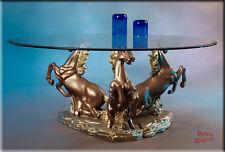 Neuheit Couchtisch Pferde Wohnzimmertisch Tisch Glastisch Luxusmöbel
