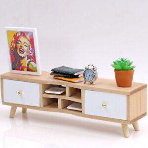 1:12 Puppenhaus Miniaturmöbel Holz TV-Schrank Puppenhaus Access BOD