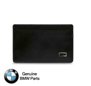 BMW Genuine M Black Wallet Card Holder - 80212454763