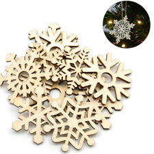 Natural Wooden Christmas Mini Snowflakes Christmas Tree Scrapbook Craft Supplies