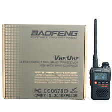 New BaoFeng UV-3R 136-174/400-470 MHz Dual-Band Ham Radio Transceiver Black