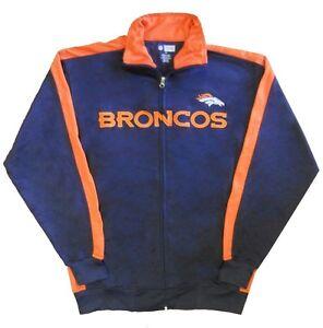 Denver Broncos NFL End Zone Full Zip Mens Track Jacket Adult Size Medium