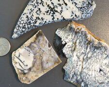 Dendritic agate lot A - 3 slabs - Amethyst Sage opal opalite dalmation
