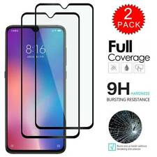 For Xiaomi MI A3 Full 3D Tempered Glass 9H Screen Protector Cover Black 2 PCS
