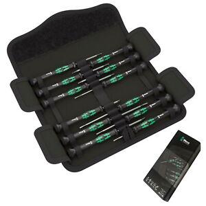 Wera 12Pc Kraftform Micro Mini Precision Electronic Screwdriver Set 05073675001