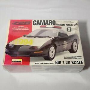 Lindberg 1993 Chevrolet Z28 Camaro Highway Patrol Car Model Kit 1/20 #72513 NISB