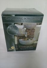 CASCADING BOWL BRICK LED FOUNTAIN DUAL POWER NEWPORT COAST WATER FOUNTAIN NEW