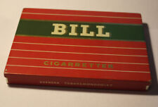 Vintage tin box BILL №443 cigaretter Svenska Tobaksmonopolet Sweden 1950*
