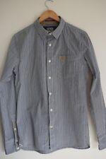 Superdry mens, L.S, check shirt...black, white,khaki...size L...excellent con