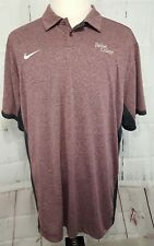 Nike Golf Dri-Fit Nwt Men's Athletic Polo Shirt Size Xxl Maroon Color