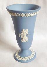 Wedgwood Dancing Hours Miniature Vase - 4 inch Blue Jasperware Bud Vase