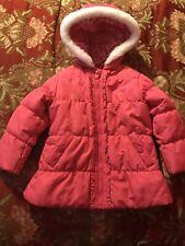 OshKosh B'gosh Girls Pink Puffy Jacket Coat. Size 4