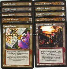 Crusade 10 Different Cities Lot I BH SE SW 3rd Ed VTES Jyhad