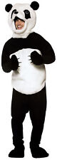 Panda Adult Black & White Costume Tunic And Headpiece Halloween Rasta Imposta