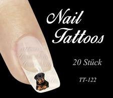Nail Art Tattoo Rottweiler welpe liegt Tiere Hund 20 St. TT-122