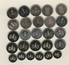More details for 26 proof five pence & one shilling coins 1970 to 1997 in near mint condition.