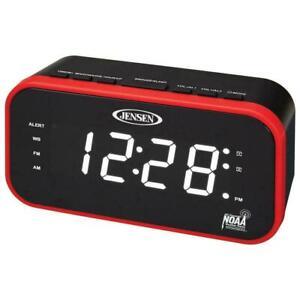 Jensen JEP-150 AM/FM Band NOAA Weather Alert Clock Radio