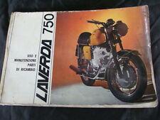 MANUALE USO MANUTENZIONE MOTO LAVERDA 750 GT BREGANZE OLD ITALY