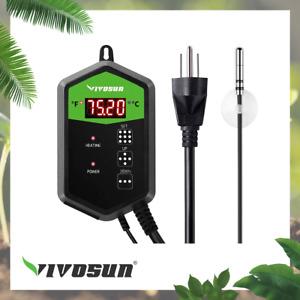 VIVOSUN Digital Heat Mat Thermostat Temperature Controller 40–108 ºF for Seed