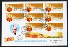 ISRAEL STAMPS 2010 CHRISTMAS NOEL 8 LABELS SILVER ON FDC